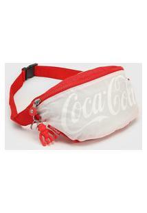 Pochete Kipling Coca-Cola Vermelha/Branco