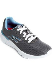Tênis Skechers Go Run 400 Feminino - Feminino-Cinza+Azul