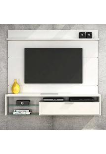 """Painel Para Tv De Até 65"""" Persa - Colibri Móveis - Branco Texturizado"""
