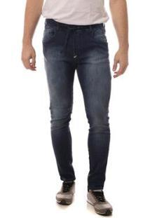 Calça Jeans Eventual Sport Masculina - Masculino-Azul