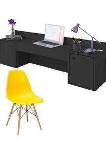 Penteadeira Escrivaninha Suspensa Atraente E Cadeira Eames Charles A02