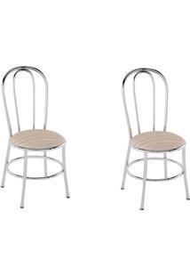 Kit 2 Cadeiras Pc01 Assento Amadeirado Caramelo - Pozza