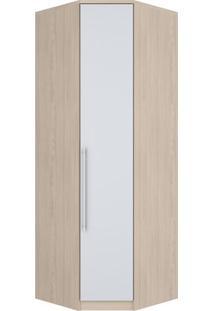 Guarda-Roupa Canto Oblíquo 1 Porta Diamante Fendi Ii E Branco Hp M302-26 Henn