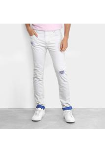 Calça De Sarja Skinny Coca-Cola Color Masculina - Masculino-Azul Claro