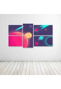 Quadro Decorativo - Abstract Space - Composto De 5 Quadros - Multicolorido - Dafiti