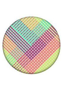 Tapete Love Decor Redondo Wevans Listras Multicolor 94Cm