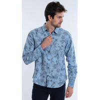 Camisa Masculina Ml Yachtmaster Floral fb66f703a4c0f