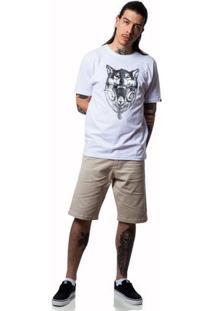 Camiseta Fallen Wolf - Masculino-Branco