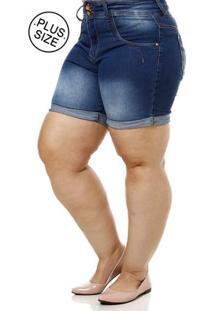 524f2f3341 Short Jeans Plus Size Feminino Azul