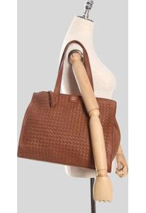 Bolsa Shopping Bag Ana Hickmann Caramelo