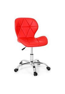 Cadeira Office Eiffel Slim Base Giratória - Vermelha