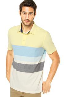 Camisa Polo Nautica Listras Amarela