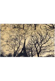 Tapete Retangular Veludo Marbella Epic Art Eiffel Park Creme 148X200 Cm