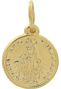 Pingente Narcizza Semijoias Nossa Senhora Medalha Milagrosa - Ouro - Dourado - Feminino - Dafiti