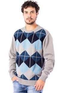 Blusa Tricot Carlan Cross Lines Decote Redondo