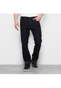Calça Jeans Reta Calvin Klein Super Escura Masculina - Masculino