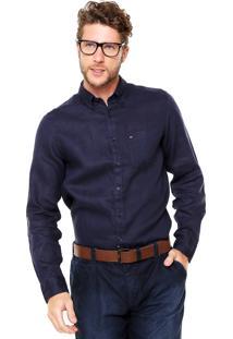Camisa Tommy Hilfiger Bordado Azul-Marinho