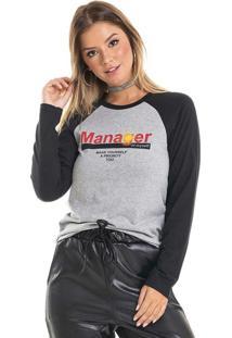 Blusa Manager Cinza