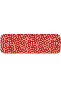 Passadeira Love Decor Wevans Folhas De Natal Trilho 40X120Cm Único Vermelha