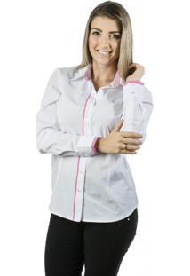 Camisa Pimenta Rosada Angelina Top Branca