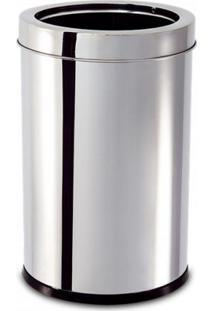 Lixeira Aço Inox Aro Decorline 18,5X29Cm 7,8L Brinox 3033206