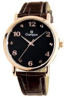 Relógio Feminino Champion Analógico Social - Cn24253P - Feminino-Marrom