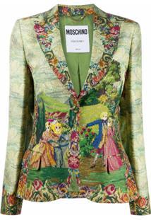 Moschino Garden Print Blazer - Verde