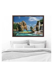 Quadro Love Decor Com Moldura Illusions Nature Madeira Escura Grande