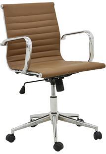 Cadeira Office Sevilha Baixa Marrom Escuro Rivatti Móveis