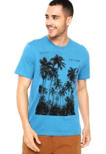 Camiseta Triton Àrvores Azul