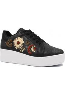 Tênis Zariff Shoes Casual Sola Alta Pedras Cadarço