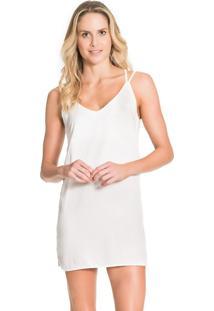 Vestido Live Glam Trip Tropicalia Branco P