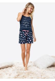 Pijama Curto Estampado Balões Malwee Liberta