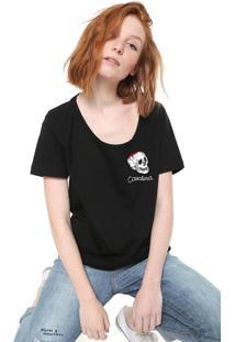 Camiseta Cavalera Bordada Preta