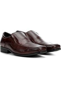 Sapato Social Couro Walkabout Sem Cadarço Masculino - Masculino-Marrom Escuro