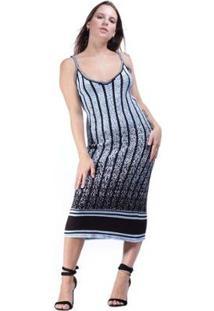 Vestido Tricot Amazonia Vital Amlafi Feminino - Feminino-Azul