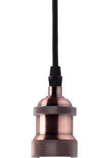 Lustre Pendente Taschibra Dot Metal Decor E27 Bivolt Cobre