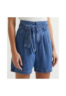 Bermuda Clochard Jeans Com Cinto Faixa