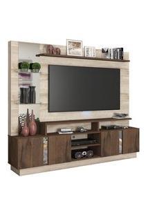 Estante Home P/ Tv Até 60 Pol Permóbili Móveis Savana Rústico/Café