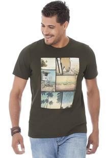 Camiseta Masculina Marrom