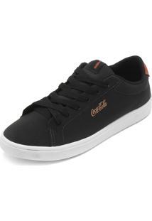 Tênis Coca Cola Shoes Cadarço Preto