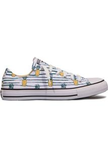 Tênis All Star Converse Ct As Ox Branco/Amazônia/Abacaxi