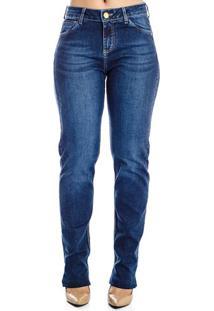 Calça Jeans Reta Cintura Alta Realist