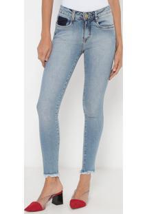 Jeans Nix Skinny Com Bolsos - Azul- Lança Perfumelança Perfume
