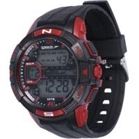 07e959db6ca Relógio Digital Speedo 81111G0 - Masculino - Preto Vermelho