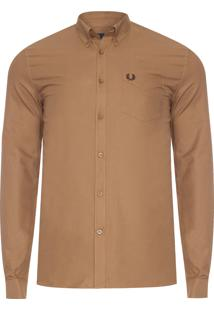 Camisa Masculina Classic Oxford - Marrom