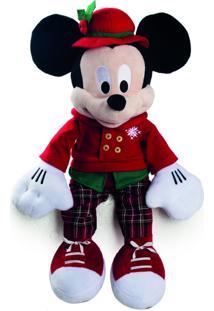 Enfeite Natalino Decoração Natal Mickey Pelúcia Disney 35Cm