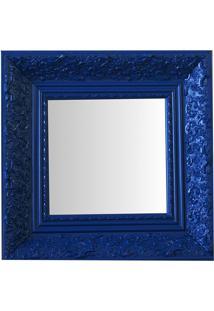 Espelho Moldura Rococó Fundo 16220 Azul Art Shop