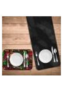 Jogo Americano Com Caminho De Mesa Wevans Mexican Kit Com 4 Pçs + 1 Trilho
