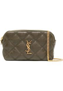 Saint Laurent Mini Becky Crossbody Bag - Verde